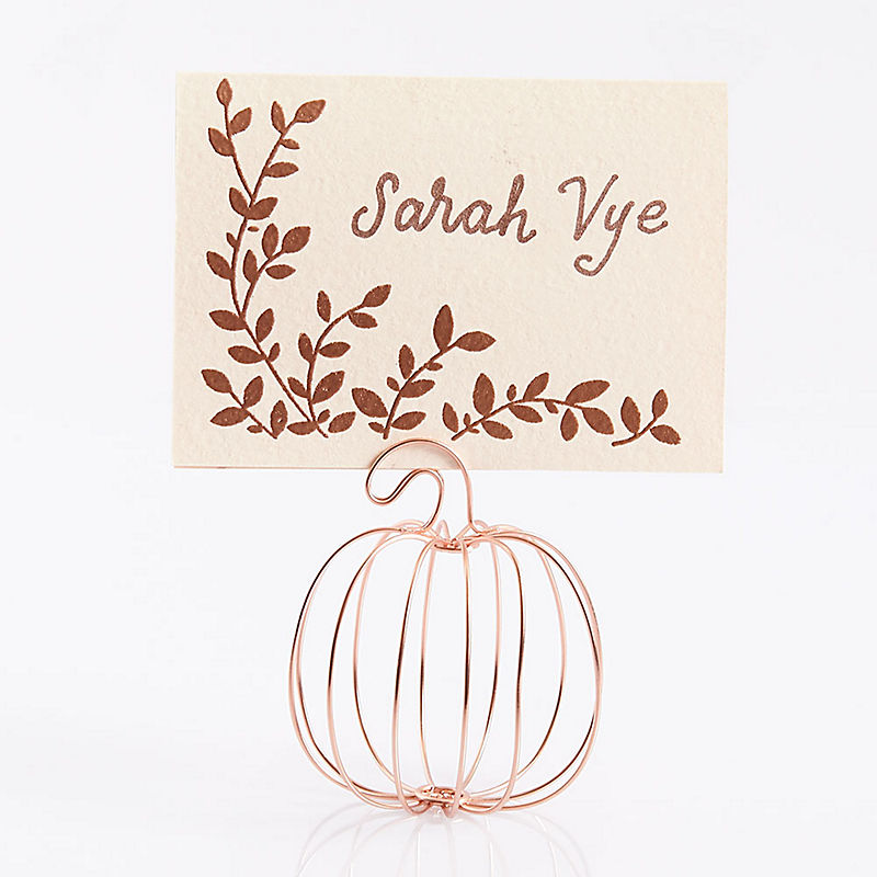 Metal Pumpkin Placecard Holders