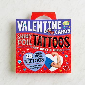 Shiny Foil Tattoo Valentine's Card Set