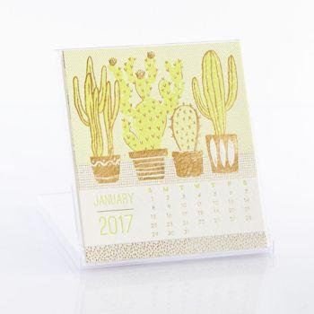 Foil Letterpress Desk Calendar
