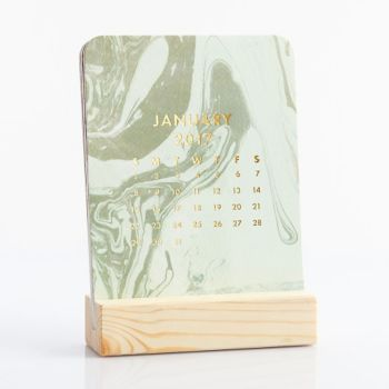 Marbled Easel Box Calendar